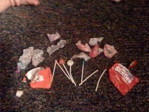 candy eaten