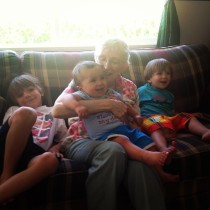 boys with their Grandma Great