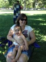 Grandma Susie, holding Benjamin at the Park