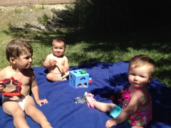 My babies had a play date with baby Kloe