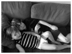 Kanan and Jameson, snuggling on the couch.