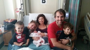 First family photo of the six of us.  Benjamin, Kanan, me, Scotland, Owen, and Jameson.