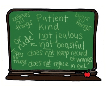 chalkboard review of love no background