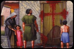 passover blood on door posts will show a cross when connected