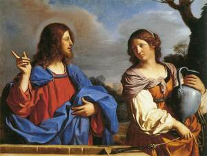 Jesus talks to the woman by the well by Guercino