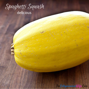 I use spaghetti squash in great meals